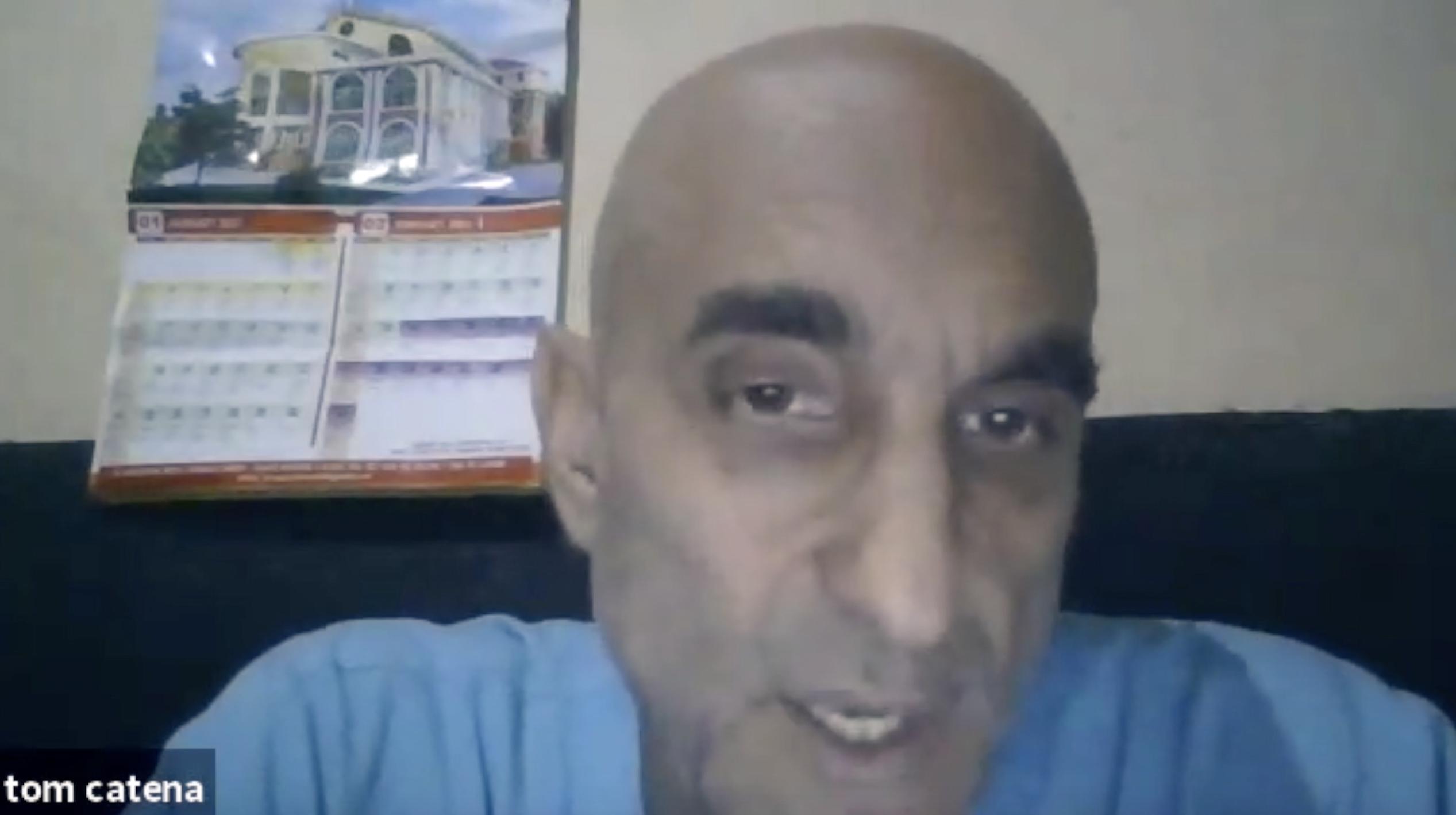 Dr. Tom Catena un a video call